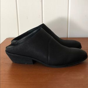 Eileen Fisher-Half Boot/Mule Black Leather.